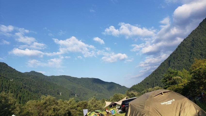 奥飛騨温泉郷オートキャンプ場③