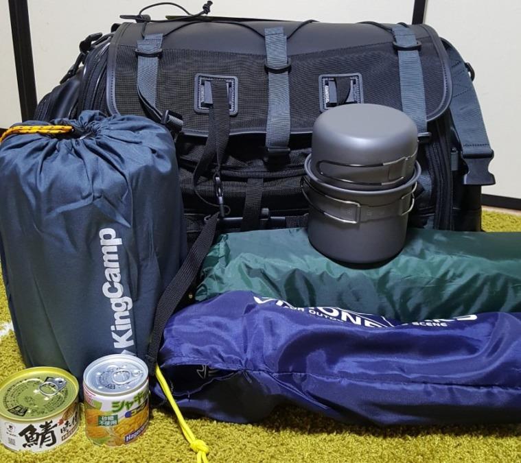 初期装備で挑むキャンプツーリング