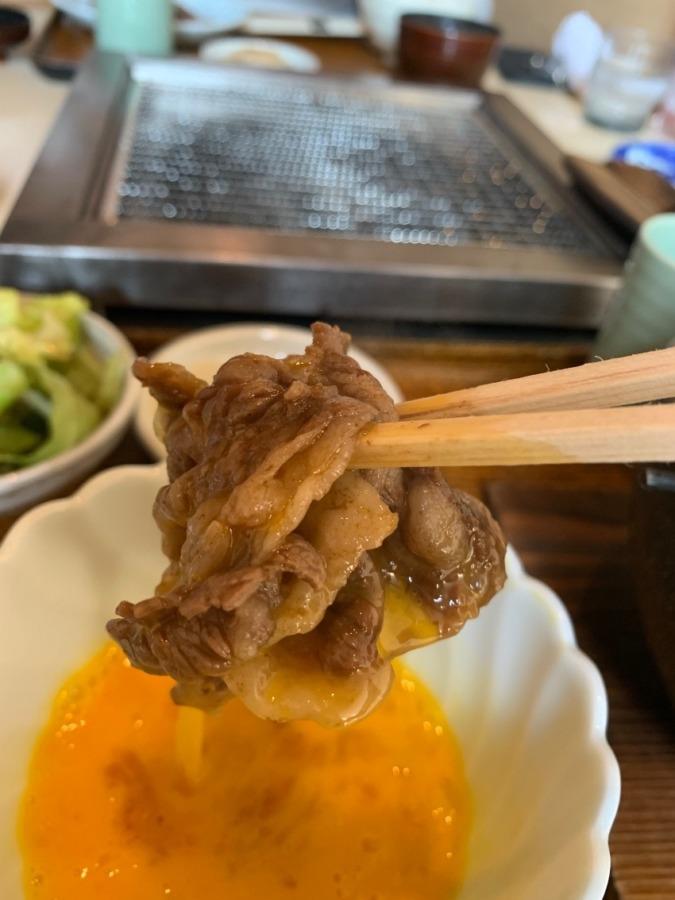 福知山「竹下」さんですき焼き