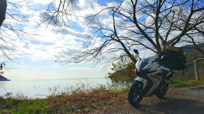 冬の奥琵琶湖キャンツー