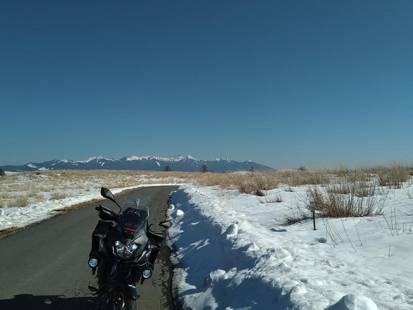 え!! バイクで2月に標高1700mを!?