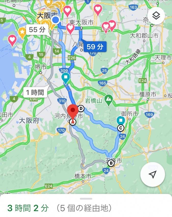 大阪府、金剛山周辺ツーリング