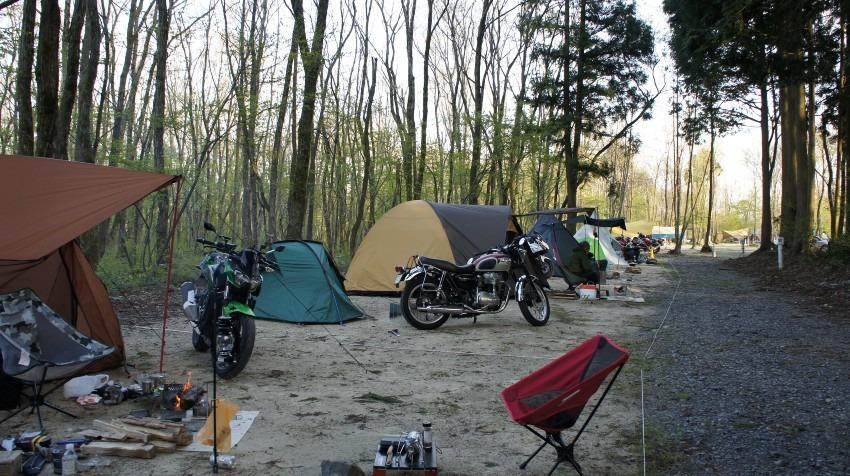 RIDEMATEキャンプツーリング一日目